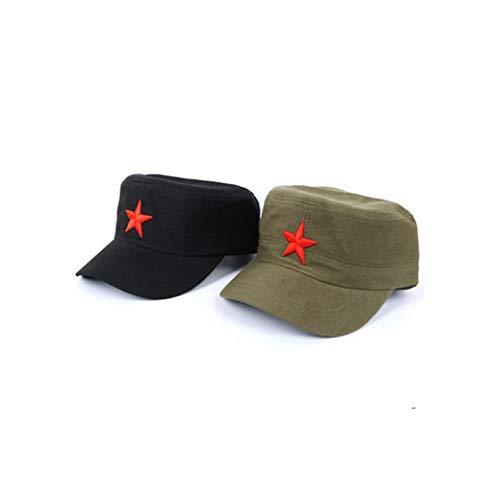Chinesische Mütze (EP-hat Rote Armee Mütze, Retro Rote Armee fünfzackigen Star Fashion Cap Outdoor Sonnenhut frei verstellbar, 2-teiliges Set,M)