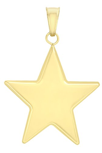 Carissima Gold 9ct Yellow Gold Semi Hollow Star Pendant