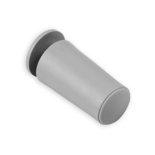 DIWARO® Rolladenstopper | Länge 40 mm | Farbe grau, hellbraun oder schwarz | mit Verschlusskappe und Schraube | Material Kunststoff | für Endleiste, Endschiene | Rolladenpanzer (grau)