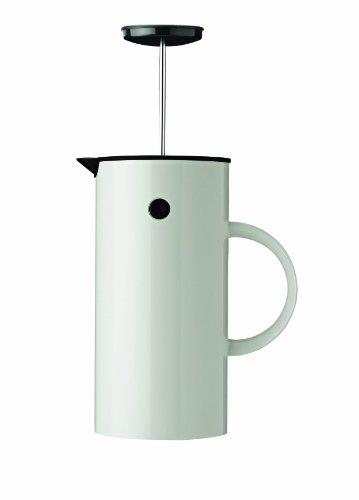 Stelton 811 EM Pressfilterkanne 1 L, Kunststoff, weiß, 14 x 14 x 22 cm