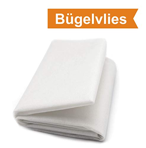 ZADAWERK® Bügelvlies - 40+18 - Weiß - 90 x 100 cm - einseitig - nähen - Stoffe