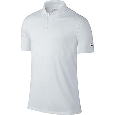 Nike Men's Golf Victory Solid Polo Shirt - White/Black, Medium