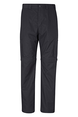 Mountain Warehouse Trek Mens Convertible Trousers - Knee Zip Hiking Pants, Lightweight Summer Trousers, Pockets, Adjustable Pants, Good Fit Casual Bottoms -for Travelling