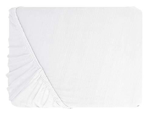 #14 npluseins Kinder-Spannbettlaken, Spannbetttuch, Bettlaken, 70x140 cm, Schnee