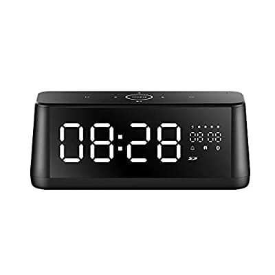 Portable Bluetooth Speaker, MIFA TWS Speakers Bluetooth 4.2, 30W, Digital Alarm Clock with LED Display, HD Bass Sound, 4000mAh, AUX-in, MIC for Echo Dot, iPhone, Samsung, Touch Control by MIFA INNOVATIONS LLC