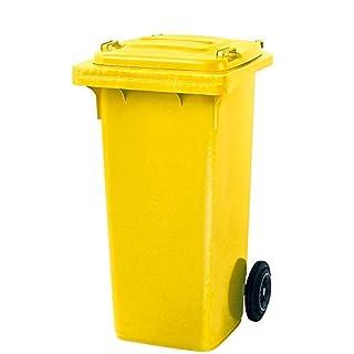Müllbehälter, Inhalt 120 Liter, gelb