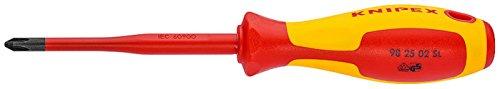Knipex Schraubendreher Plus-minus PZ Slim, Länge in mm: 212, 1 Stück, 98 25 02 SLS