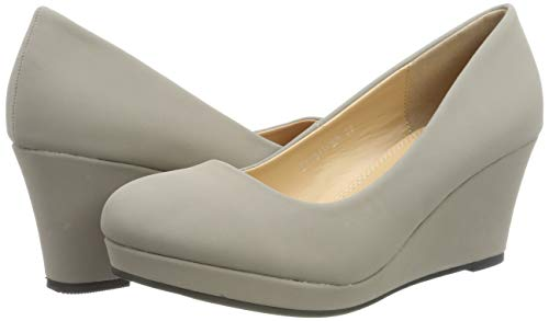 Elara Damen Pumps Keilabsatz Wedges Schuhe mit Plateau |Chunkyrayan - 5