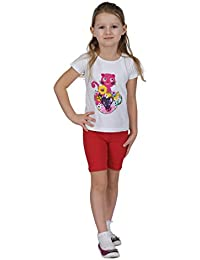 910bd7f7 Girls Cotton Cropped Or Cycling Shorts Leggings Sizes 3 Years- 12 Years.  Wide Rage