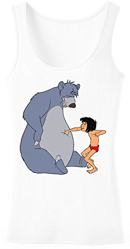 The Jungle Book Mowgli And Baloo Playing Women's Tank Top Shirt Extra Large