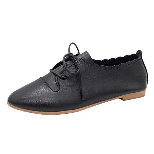 LILIHOT Frauen Turnschuhe Schnürschuhe Freizeitschuhe Mode Schuhe Daily Beach Flache Schuhe Damen Klassische Ballerinas Basic Sneaker Sommer Breathable Business Schuhe