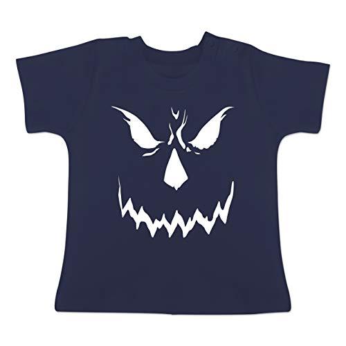 y Smile Halloween Kostüm - 6-12 Monate - Navy Blau - BZ02 - Baby T-Shirt Kurzarm ()