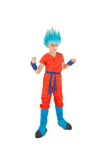 Generique - Dragonball Z-Kinderkostüm Son Goku orange-blau 152 (11-12 Jahre) (Z-kostüm Ball Für Kinder Dragon)