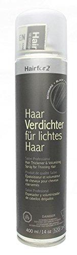 Hairfor2 Haarverdichtungsspray schwarz, 1er Pack (1 x 400 g)