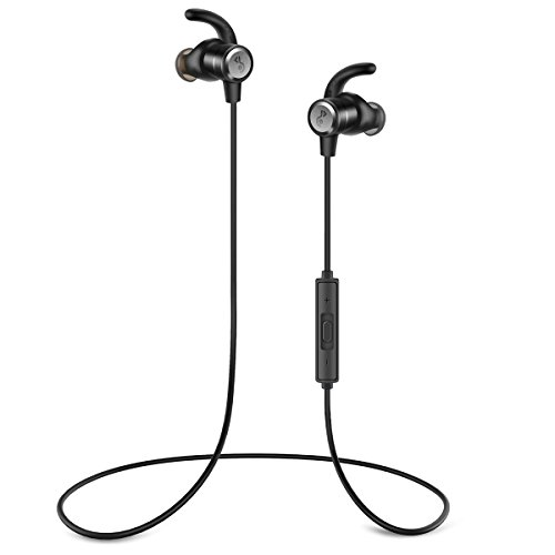 LOHOTEK Auricolari wireless per cuffie Bluetooth, auricolare wireless, microfono per...
