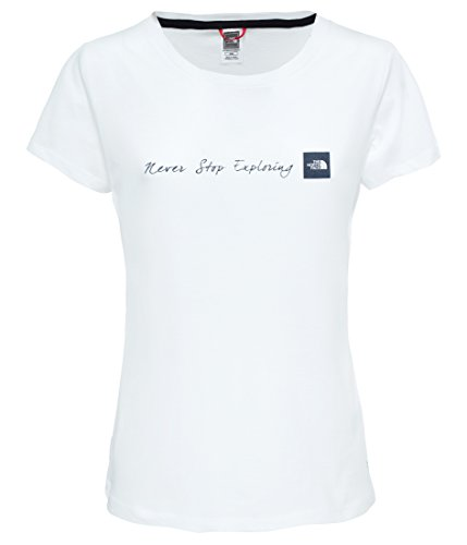 THE NORTH FACE Damen Never Stop Exploring T-Shirt, TNF White, M (Womens North Face Tee)
