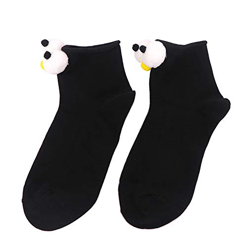 KEKEDA Damen niedliche lustige Socken Casual Cotton Crew Japanische 3D Stereo Eye Socken, 04 04 Stereo