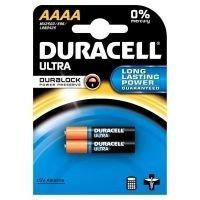 2 Aaaa-alkaline-batterien (Duracell-Pack von 2Batterien Ultra AAAA Alkaline 1.5V-AAAA)
