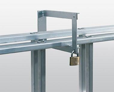 Abschließbare Wandhalterung (Leiteraufhängevorrichtung, abschließbar Gewicht ca. 1,40 kg)