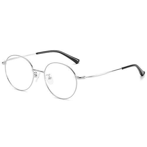 Myopische Brillengläser Rahmen Runde Brillengläser Rahmen Retro Myopic Brillengläser Rahmen Für Männer Und Frauen Der Gleichen Art Von Myopie,Heller Schwarzer Rahmen