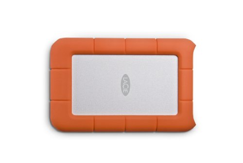 LaCie Rugged Mini 1TB External Hard Drive Portable HDD - USB 3.0 USB 2.0 Compatible, Drop Shock Dust Rain Resistant Shuttle Drive, for Mac and PC Computer Desktop Workstation PC Laptop (LAC301558)