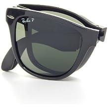Ray-Ban Folding Wayfarer Sunglasses in Light Havana RB4105 710 50