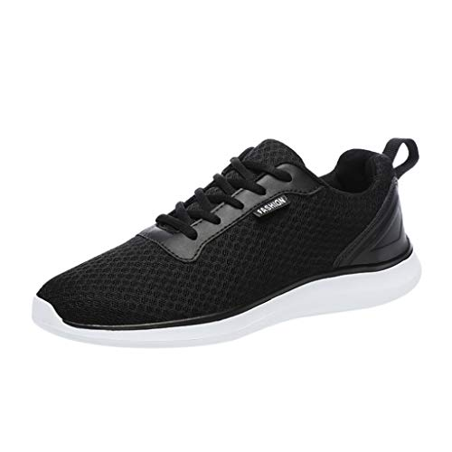 iHENGH Shoes Men Outdoor 2019 Lace-Up Breathable Sneakers Francesina Pantofola Vintage Rete Uomo Scarpe Running Sport Respirante Pu Uomo Scarpa Ginnastica Ragazzo Moda Casual Estate