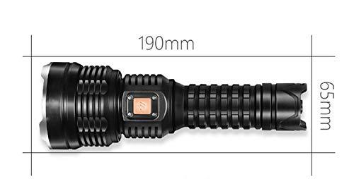 XLING Taschenlampe, wiederaufladbare super helle Xenon-Taschenlampe, 1000 m multifunktionslenjagd LED Blendung Taschenlampe, 4000 Lumen