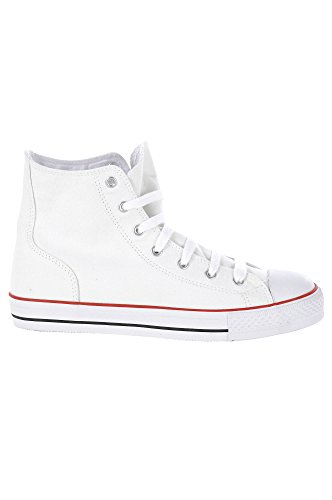 MENS HI HIGH TOP WHITE CANVAS BASEBALL BASKETBALL BOOTS 8 9 10 11 12 13 Test