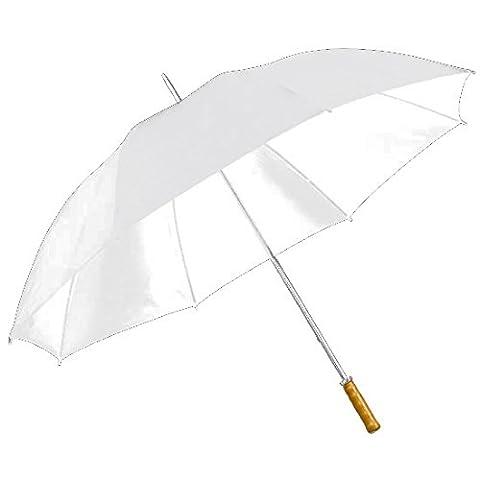 eBuyGB White Large Golf Chauffeur Wedding Umbrella