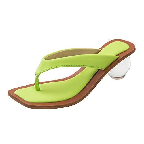 Infradito Donna Vendita Sandali Tacco Tondo Pantofole Punta Aperta Eleganti Scarpe da Passeggio Casual da Spiaggia per Donna/Ragazza di Kinlene