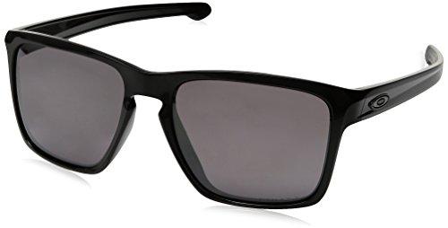 Oakley Mens Sliver XL Asian Fit Polarized Sunglasses, Polished Black/Prizm Daily, One Size