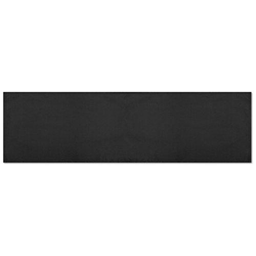 Platzsets Tischläufer Tischmatte Tischdecke, moderne Tischdeko in vielen verschiedenen Farben erhältlich (schwarz - jet black / 1x Tischläufer) (Decken Schwarze Tisch Runde)