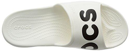 crocs Unisex-Erwachsene Clsscgrphcsld Sandalen White/Black