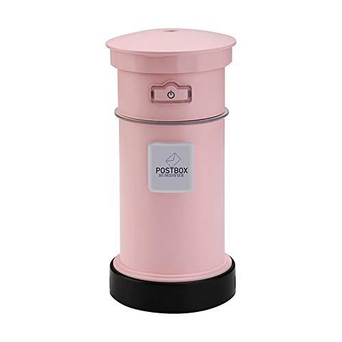 DaoRier USB Luftbefeuchter Postfach Mini Auto Luftbefeuchter Schlafzimmer Luftbefeuchter Aroma Diffuser Ätherische Oil Düfte Diffusor (Rosa)