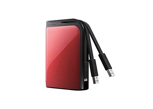 Buffalo HD-PZ1.0U3R-EU 1TB externe Festplatte (6,4 cm (2,5 Zoll), 5400rpm, 8MB Cache, USB 3.0) rot