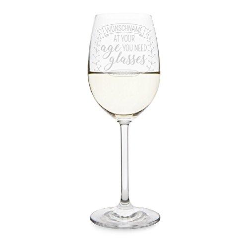 Leonardo Weißweinglas 470ml Individuelle Gravur Geschenk Weinglas - Glasses