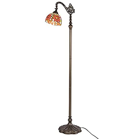 QIRUI 8806 Lampe de sol rétro avec verre