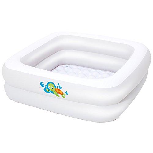 Baby Badewanne aus langlebigem PVC, aufblasbarer Boden, 86x25 cm, blau • Planschbecken Pool Schwimmbecken Kinderpool Kinder Babypool