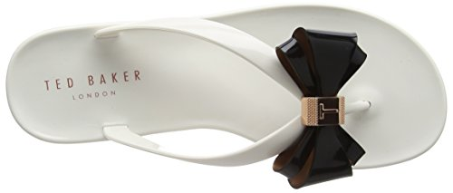 Ted Baker Rafeek, Infradito Donna, Black Multicolore (Cream/black)