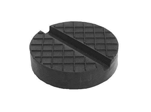 Gummiauflage viele Größen für Wagenheber Hebebühnen Rangierwagenheber Unterstellbock Gummiklotz universal Gummiblock für KFZ PKW SUV Reifenwechsel Werkstatt Schutz Auto (120x25 Nut+Waffel)