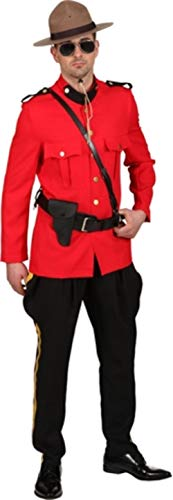 Fancy Me Herren kanadisches Mountie National Dress Emergency Service Police Uniform Kostüm (National Fancy Dress Kostüm)