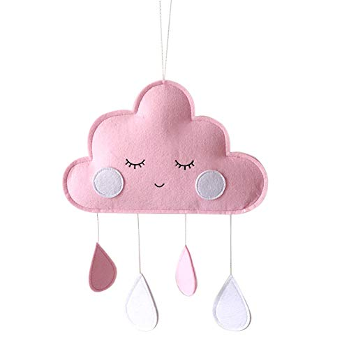 Rowentauk Cute Cloud Raindrop Hanging Ornaments Child Tent Room Wall Hanging Decoration Home Decor Photography Props