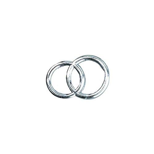 efco Wachs-Dekoration Hochzeitsinge, Silber glänzend, 30mm