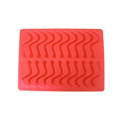 n Regenwürmer Silikon-Schokoladen-Form-Eiswürfel Süßigkeiten DIY-Backen-Form Küche Zubehör ()