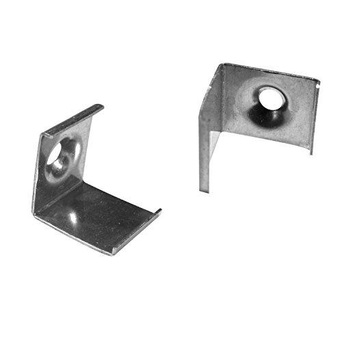 2x Montage-Clips für Alumino® Led ECKE-45 (E45) grau - Montage Halterungen Klammern Klemmen -