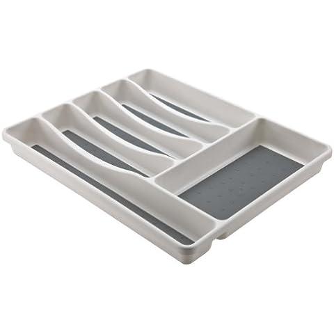 Mondex consumo PLS 262-00 Organizador de cubiertos para cajón  de cocina, con 6 compartimentos, plástico, 42 x 32,7