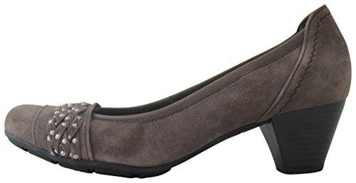 Gabor Fashion 35.423 Damen Pumps Leder Zinn