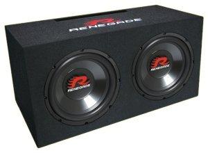Renegade rxv1002Round 2-Way 1000W Car Speaker-Car Speaker (2-Way, 1000W, 500W, 4Ohm, 92dB, 645mm)