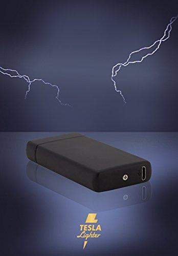 Tesla Lighter T08 Lichtbogen Feuerzeug USB Feuerzeug Arc Lighter elektronisches Feuerzeug wiederaufladbar Double-Arc Schwarz matt - 5